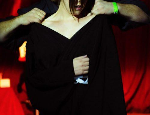 Twisted Leprechaun (Dublin 2011) Shibari bondage performance by WykD Dave and Clover