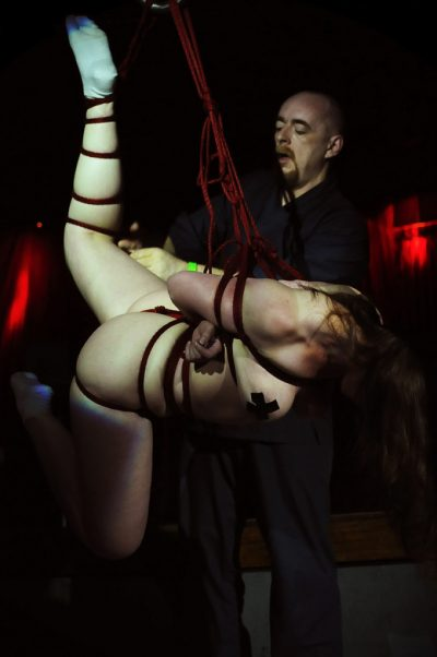 Shibari Bondage Show By Wykd Dave And Clover In Dublin Ireland In 2011 Performed At Twisted Leprechaun004 20180805