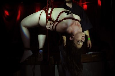 Shibari Bondage Show By Wykd Dave And Clover In Dublin Ireland In 2011 Performed At Twisted Leprechaun008 20180805