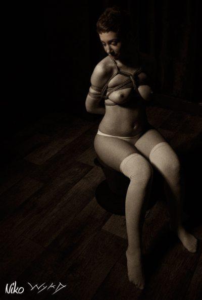 Okissaki Shibari Bondage Photoshoot With Wykd Dave And Clover 2010 001