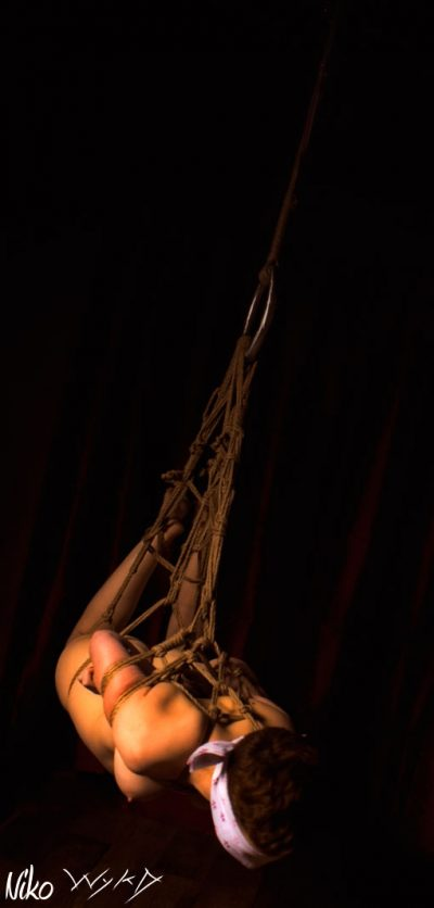 Okissaki Shibari Bondage Photoshoot With Wykd Dave And Clover 2010 021