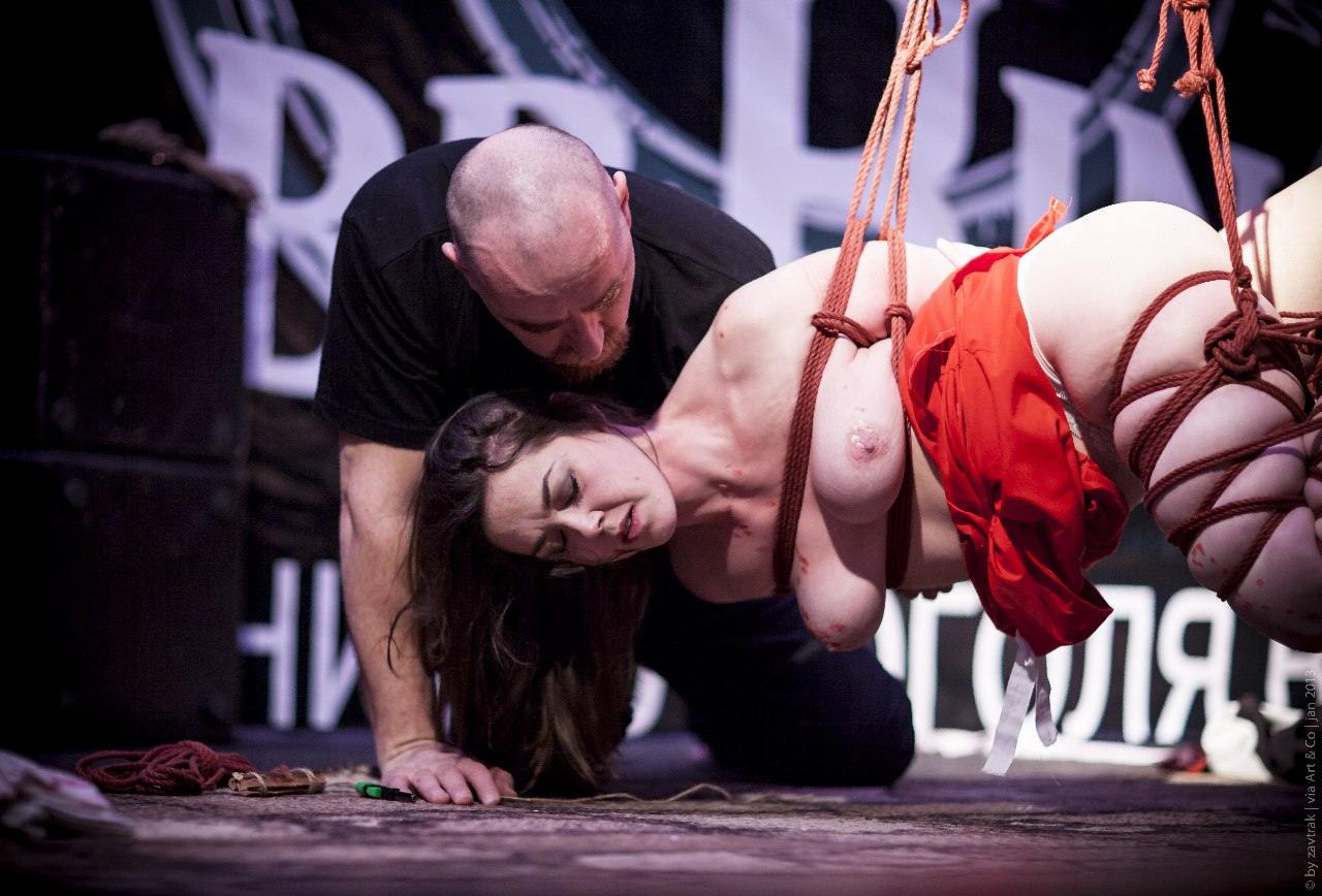 Shibari bondage performance in Saint Petersburg Russia in 2012