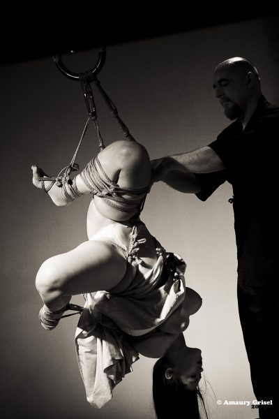 Kinbaku / Shibari Show In Paris France 2015 With Wykd Dave And Clover Brook