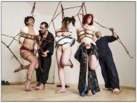 Shibari Bondage Session With Multiple Models In Rome Italy 2013
