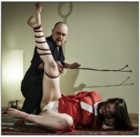 Shibari Rope Bondage Show In Rome Italy In 2013 With Wykd Dave And Clover