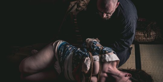 Model Clover, Photo Fredrx, Rope Wykd Dave (wykd.com) Shibari Kinbaku Bondage Session 094