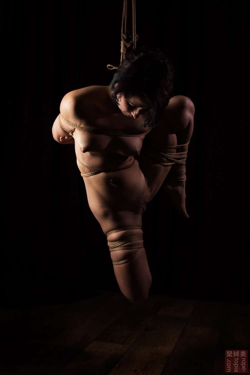Fuoco Shibari Suspension Bondage Session Rope By Wykd Dave Photography Clover Brook 005