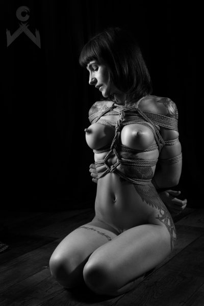 Adreena Winters Shibari Bondage Session Rope By Wykd Dave Photography Clover Brook 02