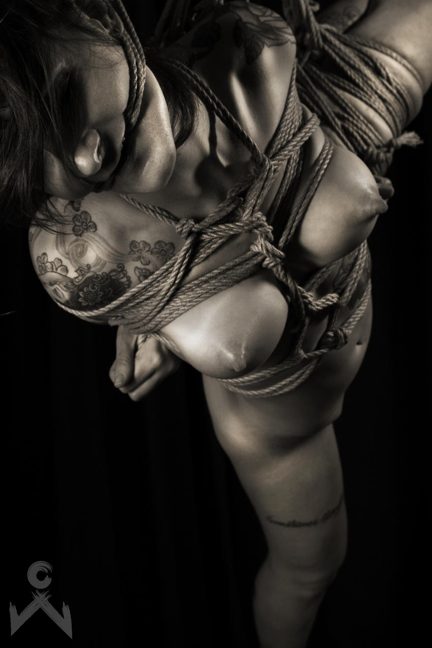 Adreena Winters Shibari Bondage Session Rope By Wykd Dave Photography Clover Brook 06