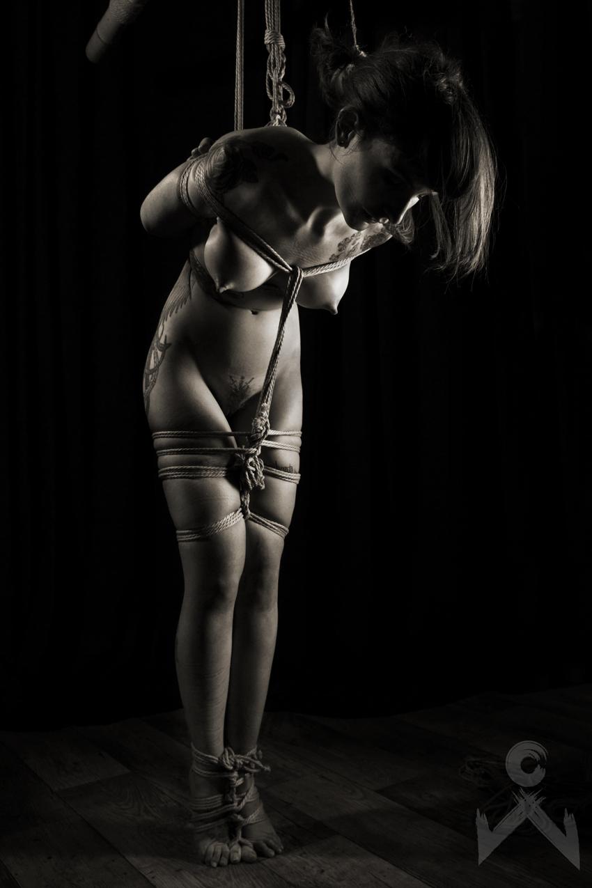 Adreena Winters Shibari Bondage Session Rope By Wykd Dave Photography Clover Brook 08