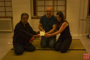 At the end of the day a certificate. Caligraphy by Yukimura Haruki