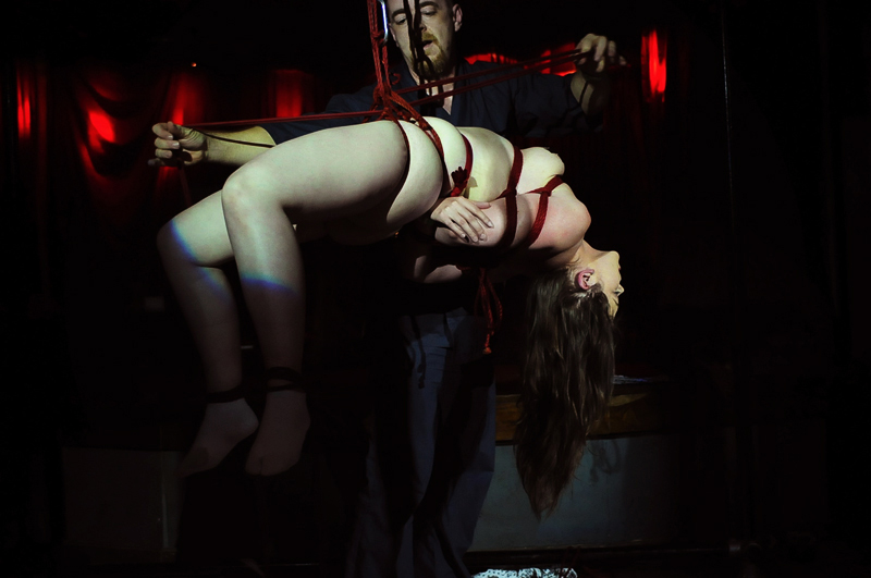 Shibari Bondage Show By Wykd Dave And Clover In Dublin Ireland In 2011 Performed At Twisted Leprechaun007 20180805