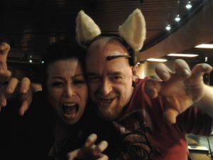 Saki Kamijoo And Wykd Dave In Nekomimi Ears In The Bar At Shibaricon 2012