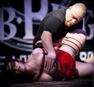 Shibari bondage performance in Saint Petersburg Russia in 2012