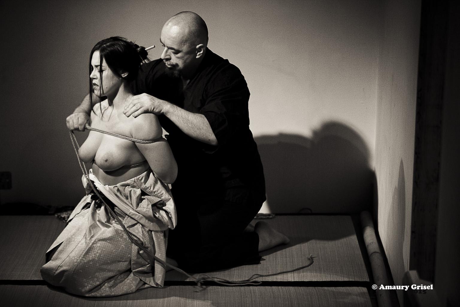 Kinbaku / Shibari Show In Paris France 2015 With Wykd Dave And Clover Brook