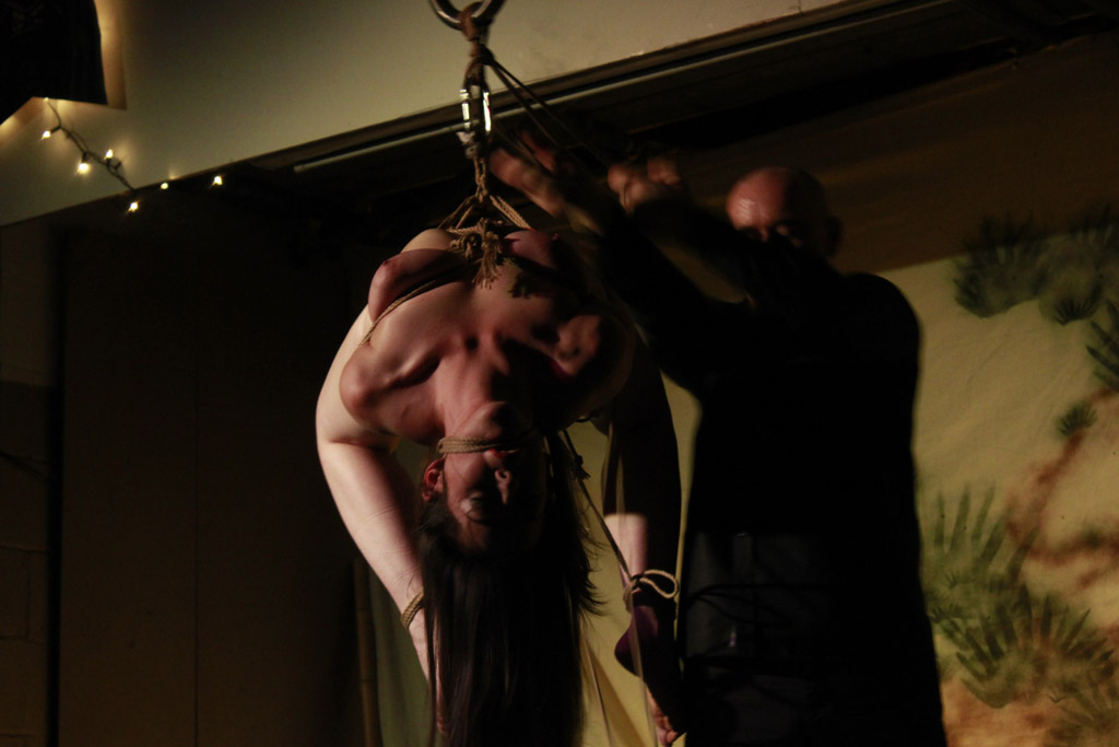 London Shibari Bondage Performance By Wykd Dave & Clover 2013
