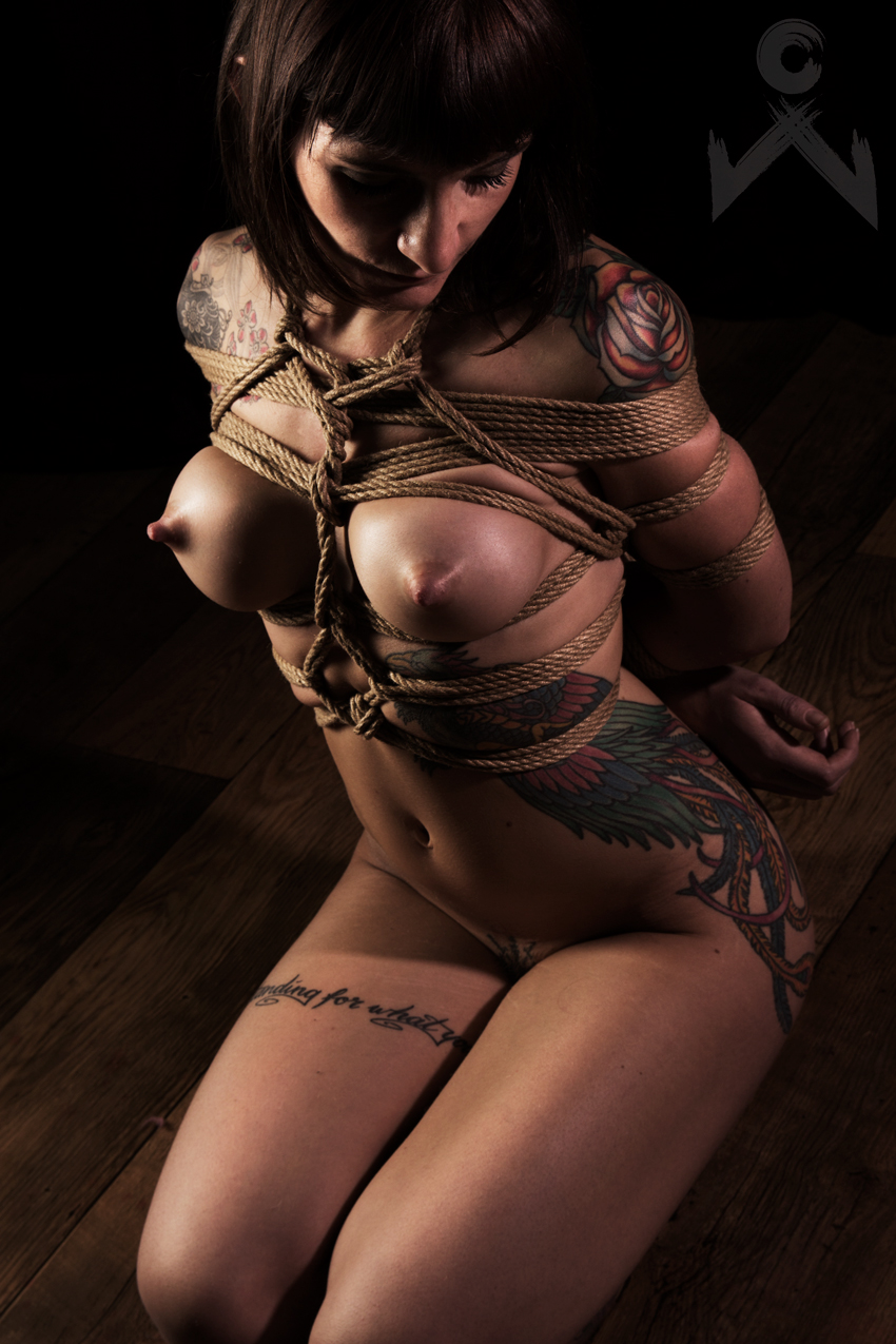 Adreena Winters Shibari Bondage Session Rope By Wykd Dave Photography Clover Brook 01