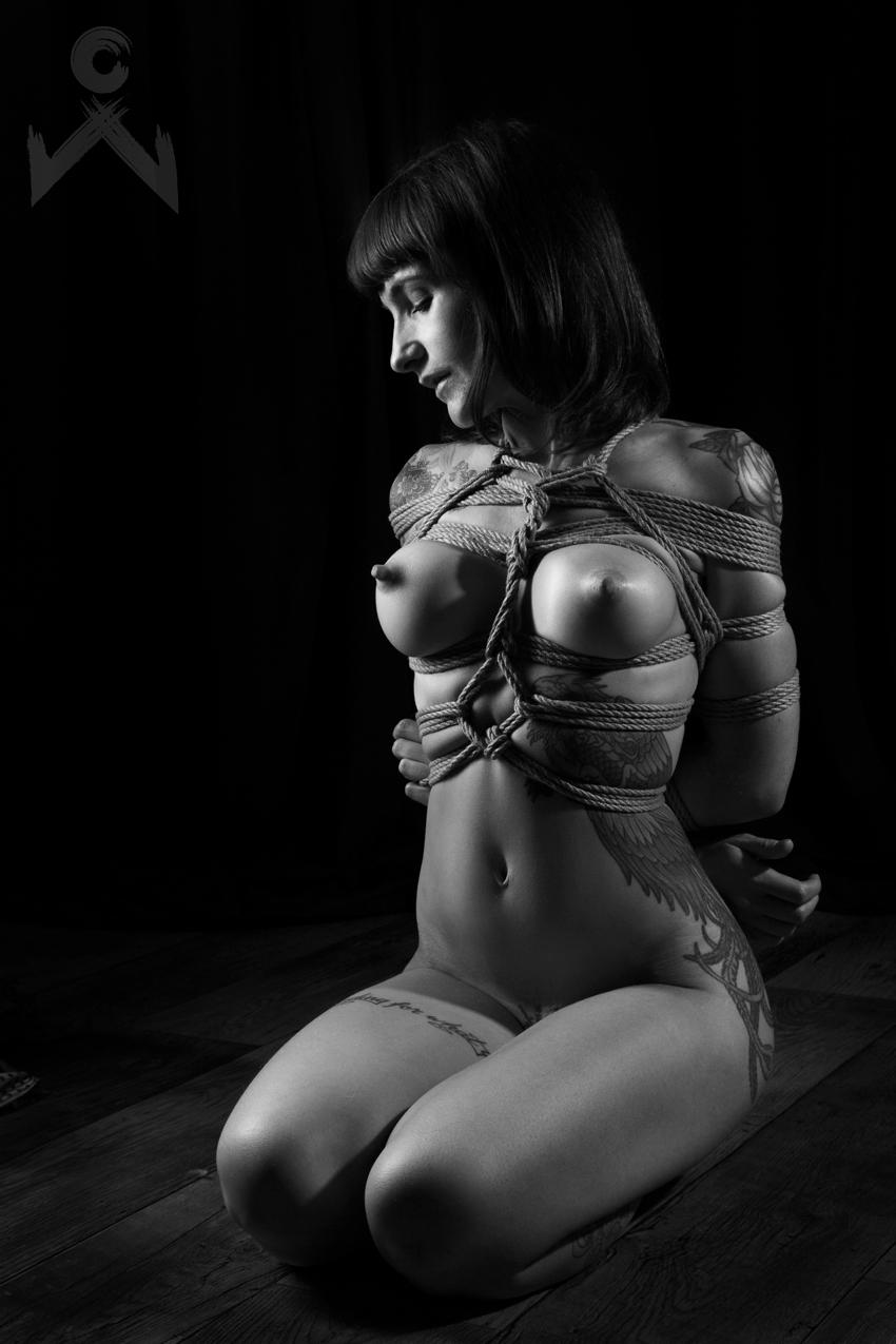 Adreena Winters Shibari Bondage Session Rope By Wykd Dave Photography Clover Brook 02