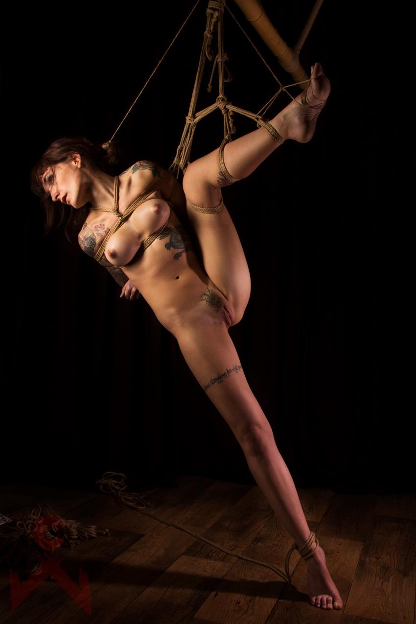 Adreena Winters Shibari Bondage Session Rope By Wykd Dave Photography Clover Brook 11